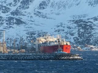 Tanker vor Hammerfest, Februar 2018