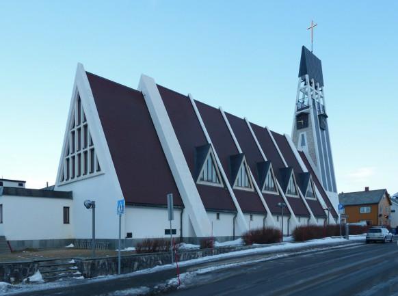 Hammerfest, ev. Kirche, Februar 2018