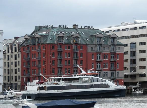 Clarion Admiral - Blick auf das Hotel von Bryggen aus.