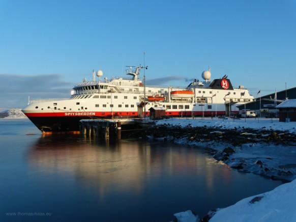 Anleger Kirkenes, M/S Spitsbergen, Februar 2018