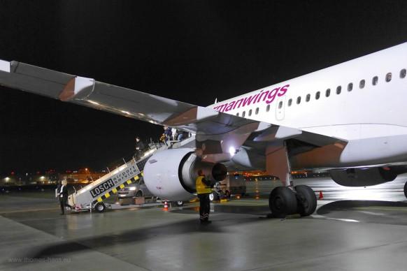 Check auf dem Flugfeld, zurück in Stuttgart...