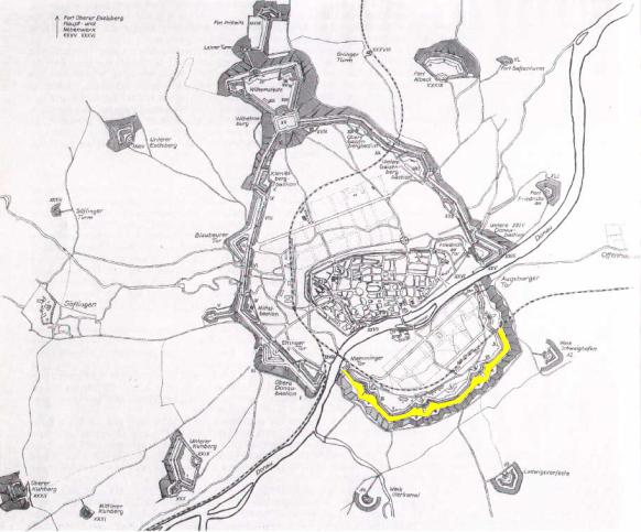 Ansicht Bundesfestung Ulm, Quelle: Stadtarchiv Ulm