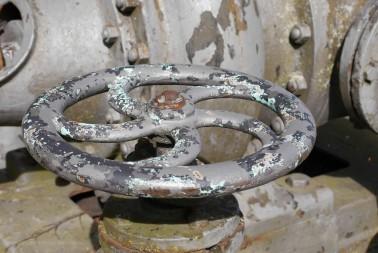 Patina am Handrad, Pumpe, Wasserturm Neu-Ulm