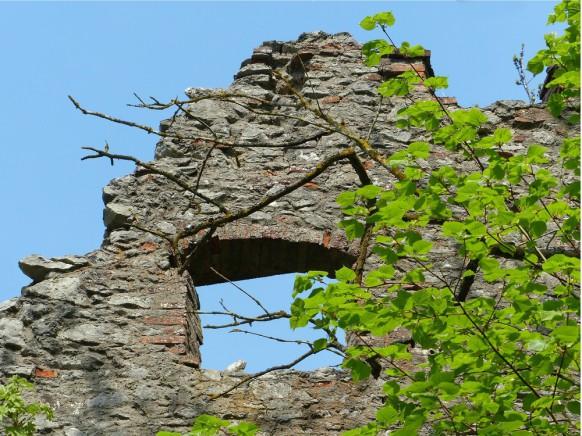 Bauschaden - die Burgruine Hochhaus, 2018