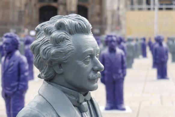 Einstein-Skulpturen auf dem Münsterplatz, Mai 2018