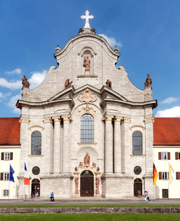 Westseite, Münster in Zwiefalten, Fassade