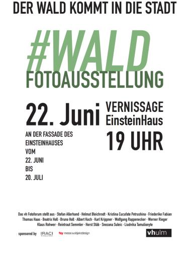 Plakat zur ausstelung, Fotoforum  vh Ulm, 2018