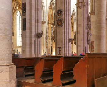 Gestühl im Säulenwald, Münster Ulm