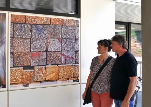 Besucher der Ausstellung, Juli 2018