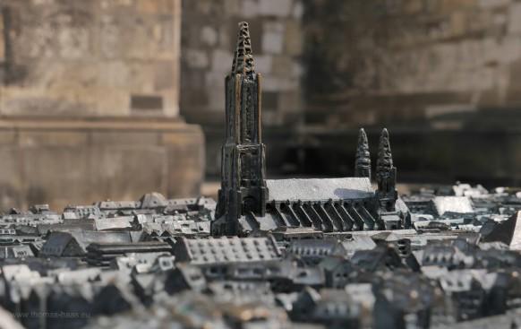 Ulm zun anfassen, Stadtmodell vor dem Münster, 2018
