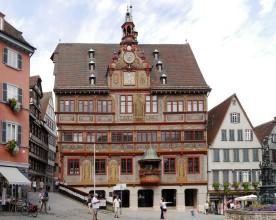 Tübingen, historisches Rathaus, Juli 2018
