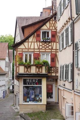 Ladengeschäft im Fachwerkhaus, Tübingen, 2018