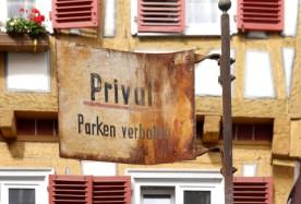 Schild in der Altstadt...