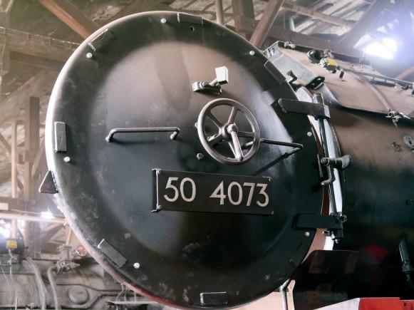 50 4073 im Bayerischen Eisenbahnmuseum Nördlingen, August 2018