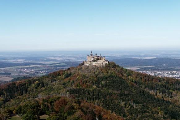 Burg Hohenzollern vom Zeller Horn, Oktober 2018