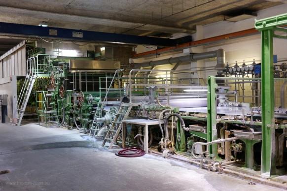 Papiermaschine, Büttenpapierfabrik Gmund am Tegernsee, 2018