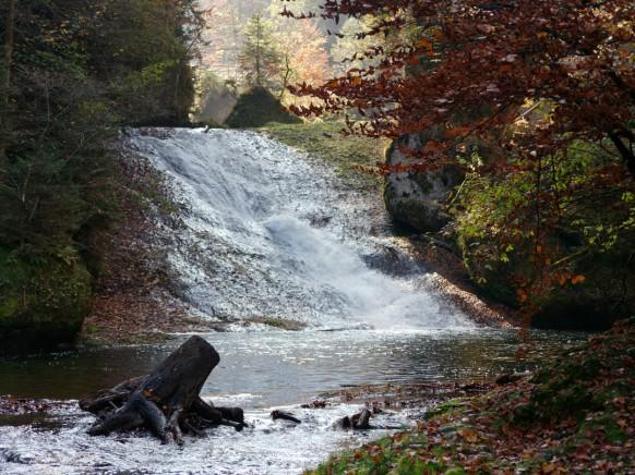 """Ende Oktober im Eistobel, """"Großer Wasserfall"""", 2018"""