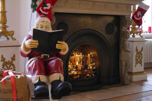 Der Weihnachtsmann im Schloss glücksburg, Dezember 2018