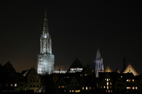 Stadtbild, Nachtaufnahme, Dezember 2018