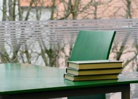 Leseplatz in der Bibliothek, Ulm, Dezember 2018