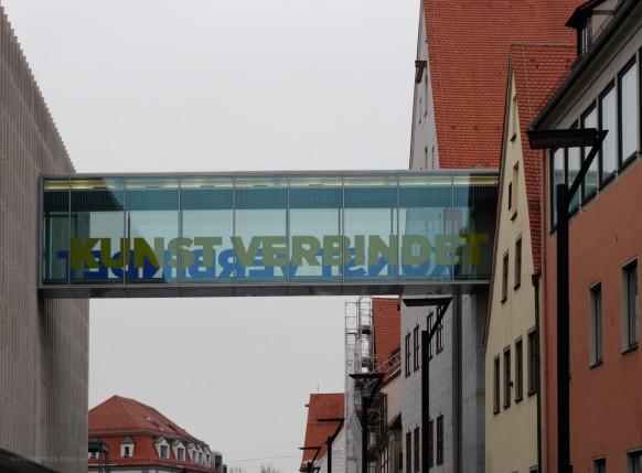 Gläserne Brücke, Neue Mitte, Ulm, Dezember 2018