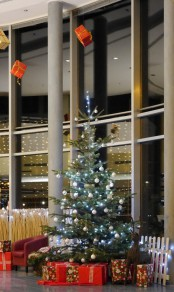 Christbaum in der Eingangshalle, 2018