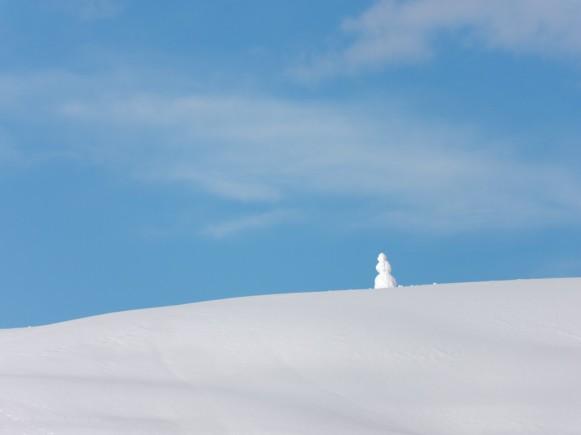 Schneemann auf dem Grat, Februar 2019