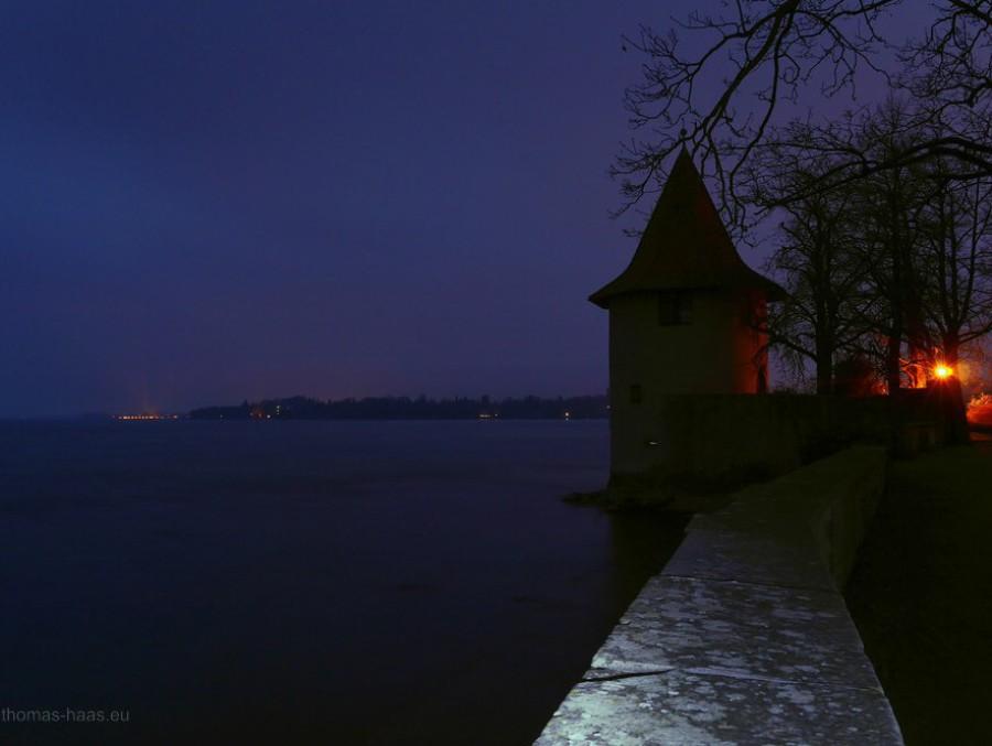 Langzeitbelichtung, 30 sec., Bodensee, Lindau