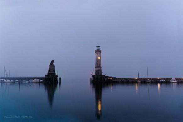 Lindau, Hafeneinfahrt, Winterlicht...