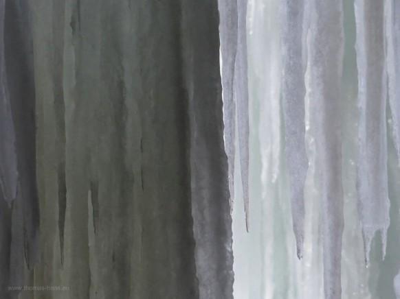 Eisvorhang im Februar 2018