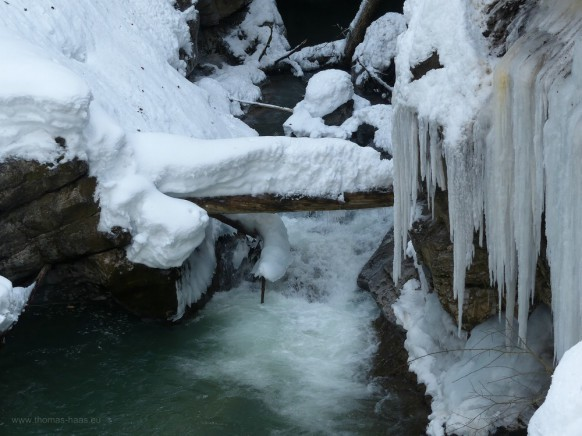 Die Breitach, der linke Oberlauf der Iller, Februar 2019