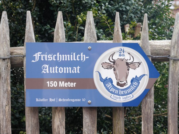 Frischmilch-Automat, Hinweis