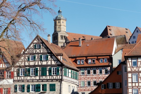 Schwäbisch Hall, die Altstadt, 2019