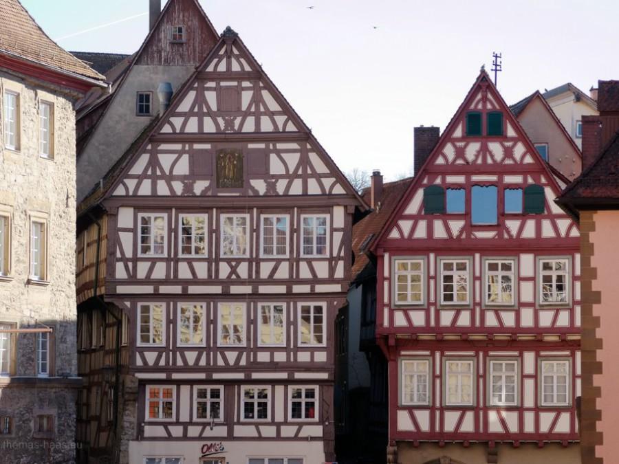 Häuser am Marktplatz Schwäbisch Hall, 2019