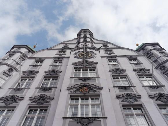 Memmingen, Rathaus am Marktplatz, April 2019