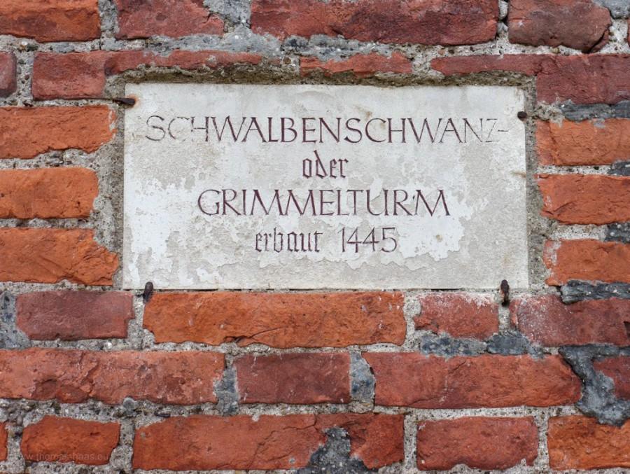 Hinweistafel, Stadtbefestigung, Memmingen