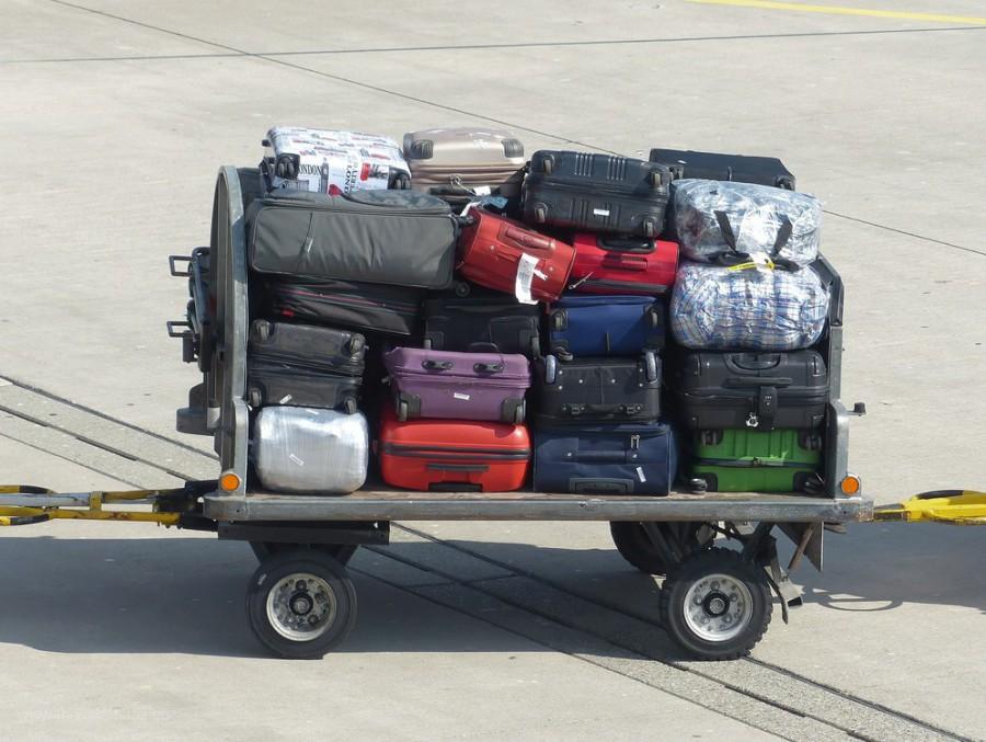 Koffer beim Transport...