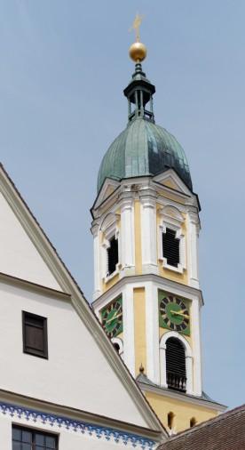 Kirchturm, Klosterkirche Ochsenhasuen