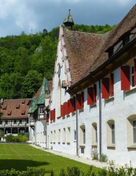 Sanierte Gebäude im Klosterhof Blaubeuren, 2019