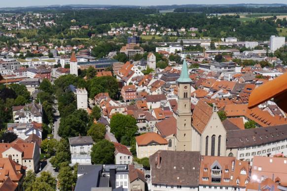 ein Blick vom Mehlsack auf die Altstadt, Ravensburg, 2019