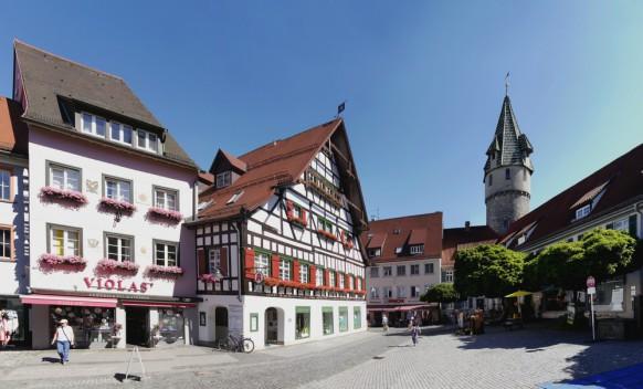 Altstadtpanorama, Ravensburg, Grüner Turm