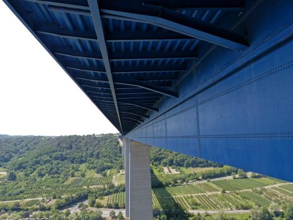 Untersicht der Moseltalbrücke, Juli 2019