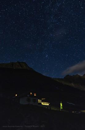 Sternenhimmel über der Landwarisee-Hütte, Yannick Musch, 2019