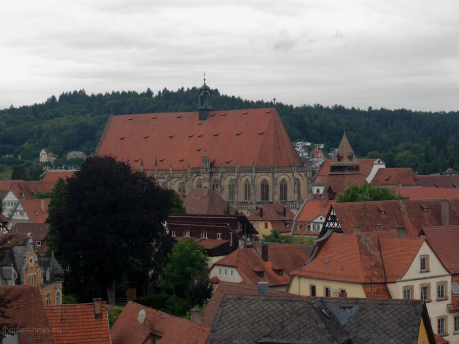 Stadtbild vom aussichtspunkt zeiselberg, Schwäbisch Gmünd, 2019
