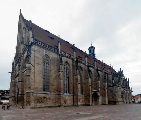 Gmünd, das Münster, Montage, August 2019