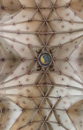 Mond und Sterne am Gewolge in Gmünd, Münster