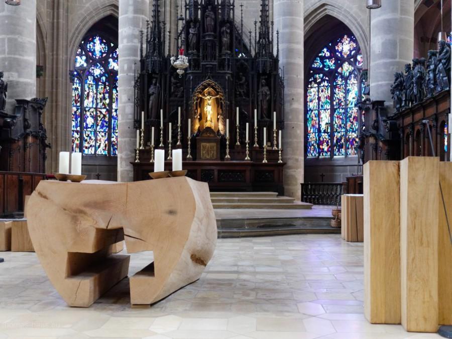 Altarraum im Münster, Schwäbisch Gmünd, 2019