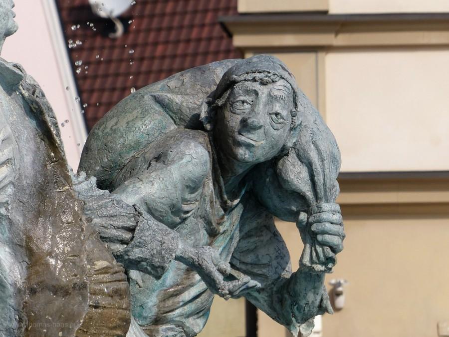 Detail vom Marktbrunnen, Ehingen