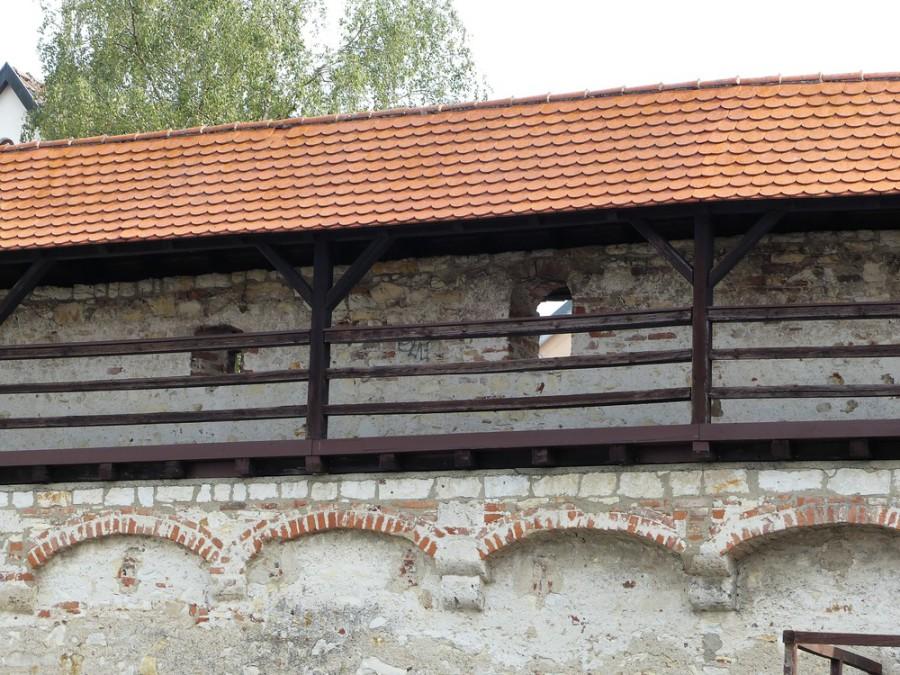Teilstück der alten Stadtmauer in Ehingen