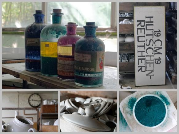 Collage mit Motiven aus der Porzellanfabrik, 2019